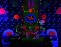 neon party supplies neon new years new year s neon new years party black light