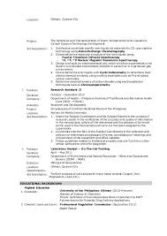 On The Job Training Resume by Berenguel M M Resume Chemist