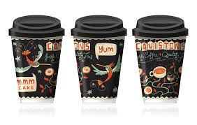 coffee cup designs illustrated coffee cup design on behance