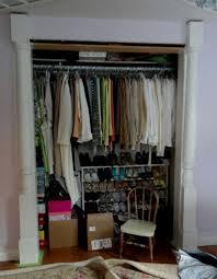 interior attractive picture of small walk in closet decoration