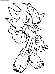 unique shadow the hedgehog coloring page 38 for your coloring