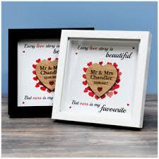 1st wedding anniversary gift wedding anniversary gifts box frame personalised 1st