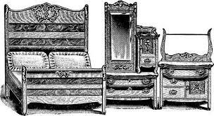 antique carved golden oak bed cheval dresser commode bedroom suite