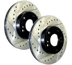 honda civic rotors 06 11 honda civic si stoptech slotted drilled front rotors