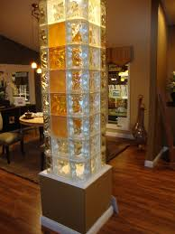curved angled square glass block column lamppost bar cleveland