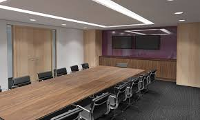 Grey Meeting Table Impressive Office Conference Room Design With Rectangle Brown
