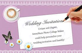 wedding invitations maker how to create wedding invitation card amoyshare photo collage maker