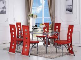 Red Dining Chair Dinning Red Upholstered Dining Chairs Fabric Dining Chairs Dining