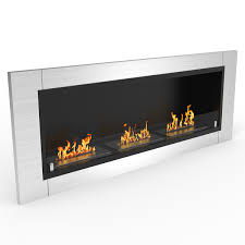 lenox 54 inch ventless built in recessed bio ethanol wall mounted