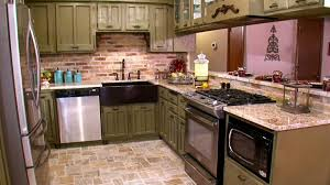 Faux Brick Kitchen Backsplash by Kitchen Faux Stone Kitchen Backsplash Combined With Black Wooden