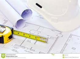 building plans hat and building plans stock image image 23645451