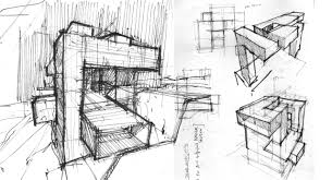 architecture design drawing sketch interior design