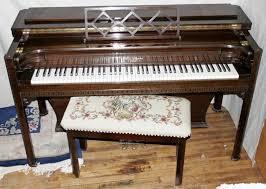 winter mahogany u0027musette u0027spinet piano