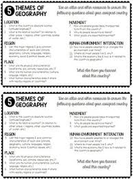 5 themes of geography essay exles 5 themes of geography country research questions world history