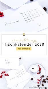Kalender 2018 Free Free Printable Minimalistischer Tisch Kalender 2018 Filizity