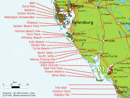 map of west coast of florida florida surfing in florida united states of america wannasurf
