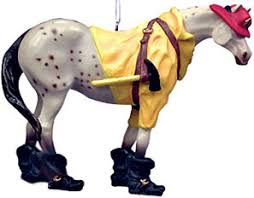 painted ponies fireman pony ornament pony ornaments figurines