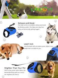 dog ribbon lifewit retractable dog leash dog walking leash for