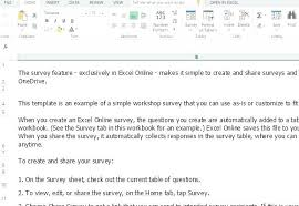 resume cover letter exle template sle questionnaire excel format workshop survey form template