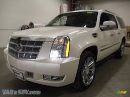cadillac jeep 2008 cadillac escalade esv platinum awd in white diamond 243121