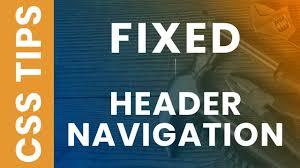 Sticky Top Bar Css Sticky Header Fixed Navigation Menu Bar On Scroll Using