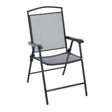 Outdoor Dining Chair by Living Accents Seville Folding Wrought Iron Chair Set Of 4