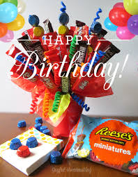 balloon and candy bouquets make a birthday candy bouquet joyful homemaking