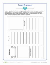 travel brochure worksheet education com