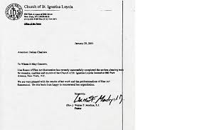 Reference Letter York letters of recommendation received restoration nyc