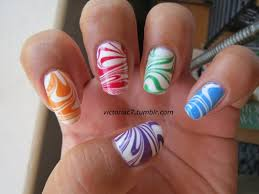 today u0027s daily nail art is this marbled skittle design made by