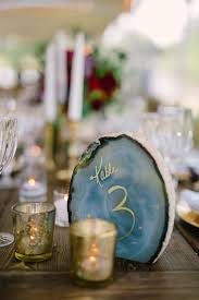 Wedding Table Number Ideas Agate U0026 Geode Wedding Ideas Mon Cheri Bridals