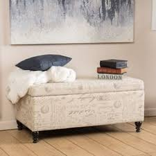 Enchanted Home Storage Ottoman Royal Comfort Collection Traditional Paris Vintage French Writing