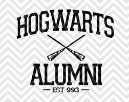 hogwarts alumni decal harry potter svg etsy silhouette ideas harry