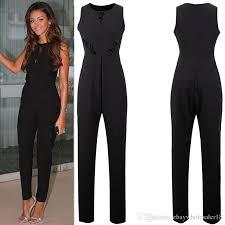 black sleeveless jumpsuit jumpsuits 2018 fashion sleeveless jumpsuits 2017