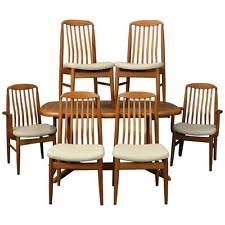 Mid Century Dining Room Chairs by Danish Teak Dining Table Ebay