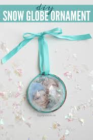how to make a stunning snow globe ornament in seconds happily