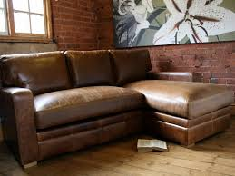 Leather Sofa Conditioner Living Room Small Brown Distressed Leather Sectional Sofa With