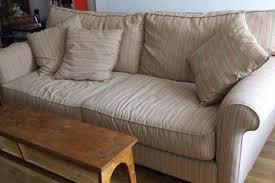 Alan White Loveseat Scavenger Alan White Sofa Striped For 475 Apartment Therapy