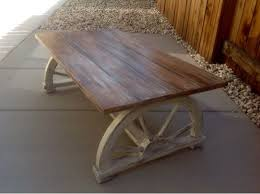 Rustic Coffee Table With Wheels Best 25 Wagon Wheel Table Ideas On Pinterest Milk Can Table