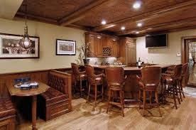 interior classic bar designs for home basements with l shaped