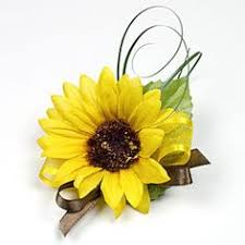 sunflower corsage sunflower corsage with navy ribbon yellow and blue wedding flower