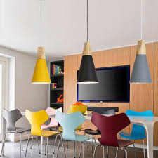 Wooden Pendant Lighting by Aliexpress Com Buy Modern Wood Pendant Lights Lamparas Colorful