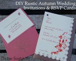 diy wedding invitation diy autumn wedding invitations