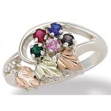 cheap mothers rings ring with 1 to 6 genuine birthstones by landstroms