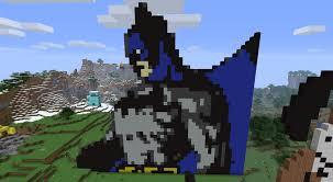 creative pixel art ideas batman collection minecraft pixel art