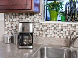 an easy backsplash made with vinyl tile hgtv with regard to