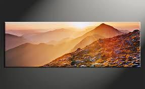 Landscape Canvas Prints by 1 Piece Artwork Orange Landscape Wall Decor