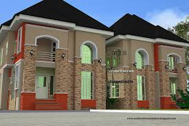 twin duplex house plans in nigeria modern hd