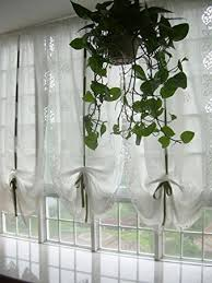 Shabby Chic Balloon Curtains by Amazon Com Diaidi White Cafe Sheer Curtain Shabby Chic Living