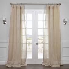 amazon com half price drapes shlnch j0106 108 linen sheer curtain